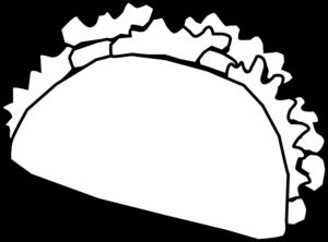 Taco clipart free black white