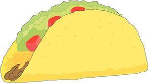 Taco clipart vector image