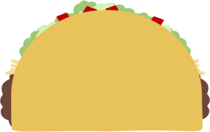 Taco clipart vector