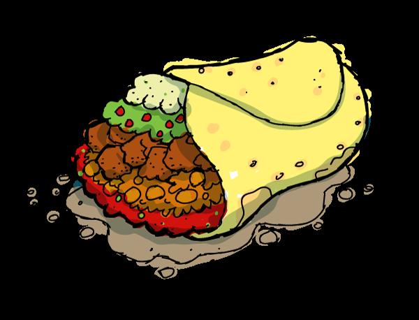 Taco delicious clipart free image