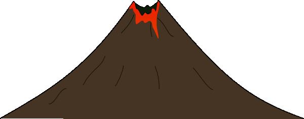 Volcano clip art free clipart image