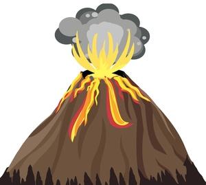Volcano clip art images volcano clipart