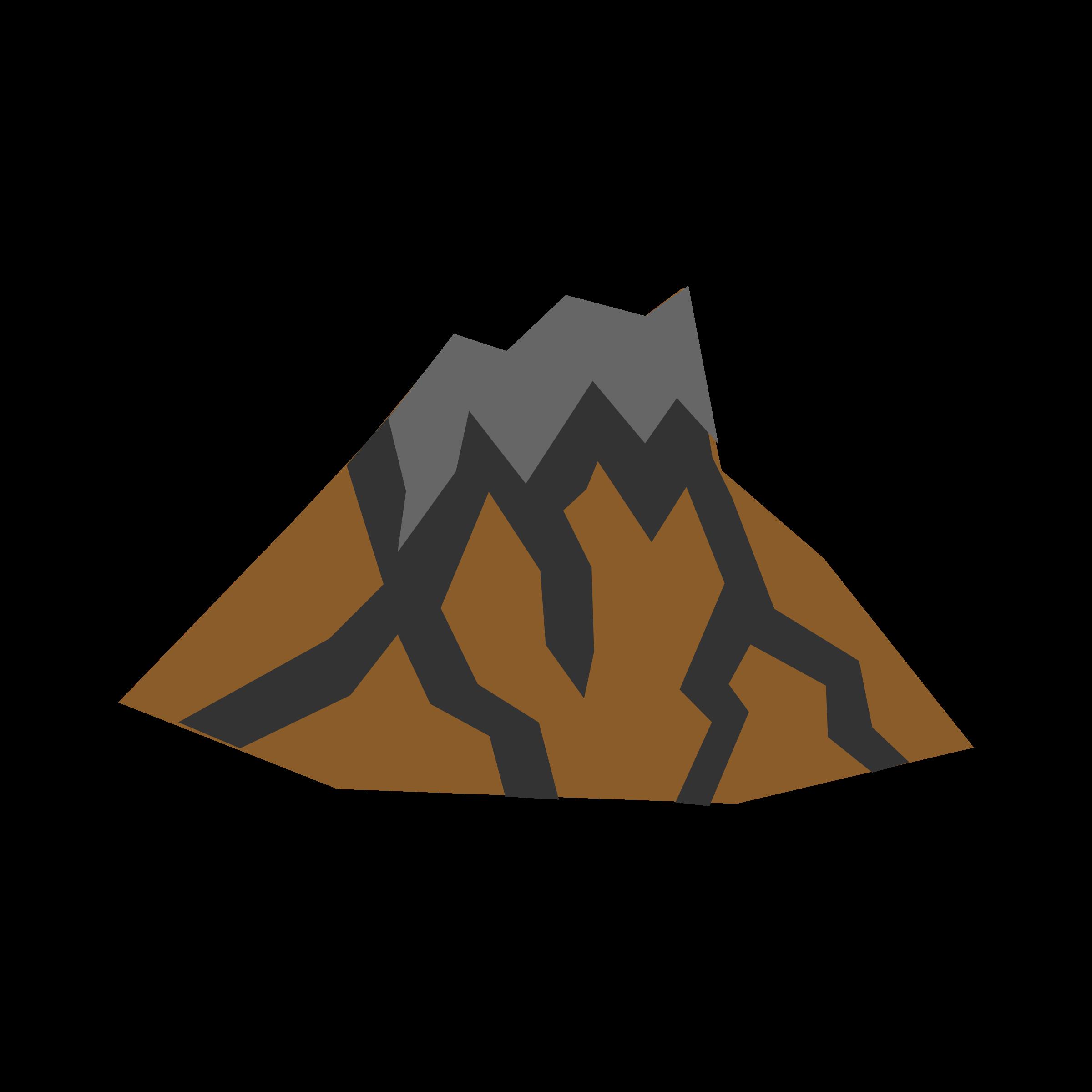 Volcano clip art vector free
