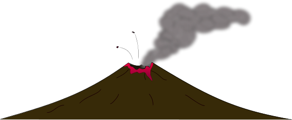 Volcano clipart beautiful