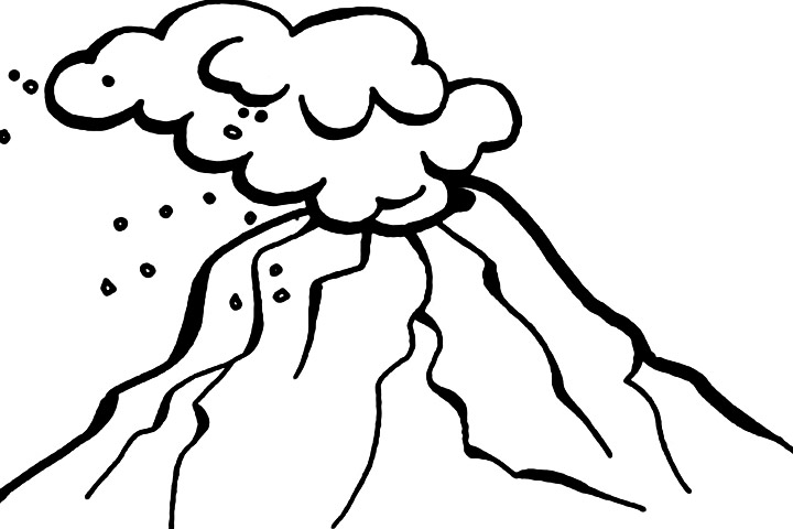 Volcano clipart erupting images