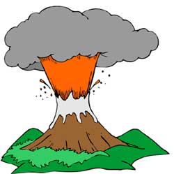 Volcano clipart free cliparts outline
