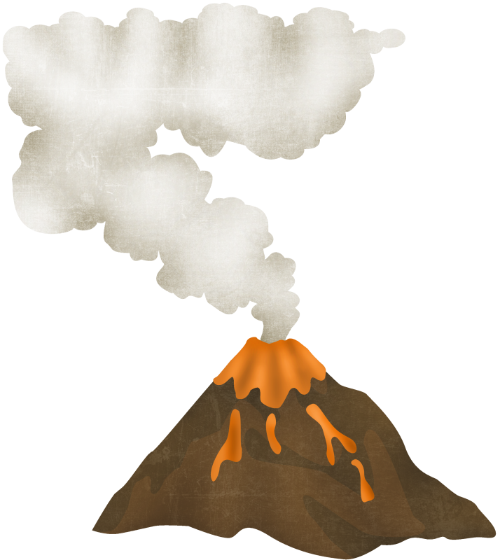 Volcano clipart free photo