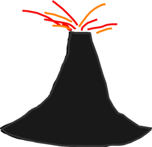 Volcano clipart free vector clip art