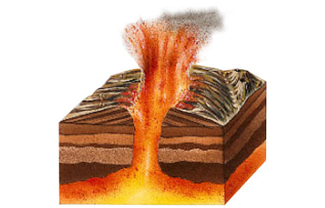 Volcano clipart illustration