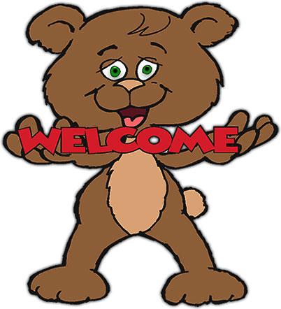 Welcome clipart cute bear clipart
