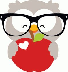 apple and owl clipart free