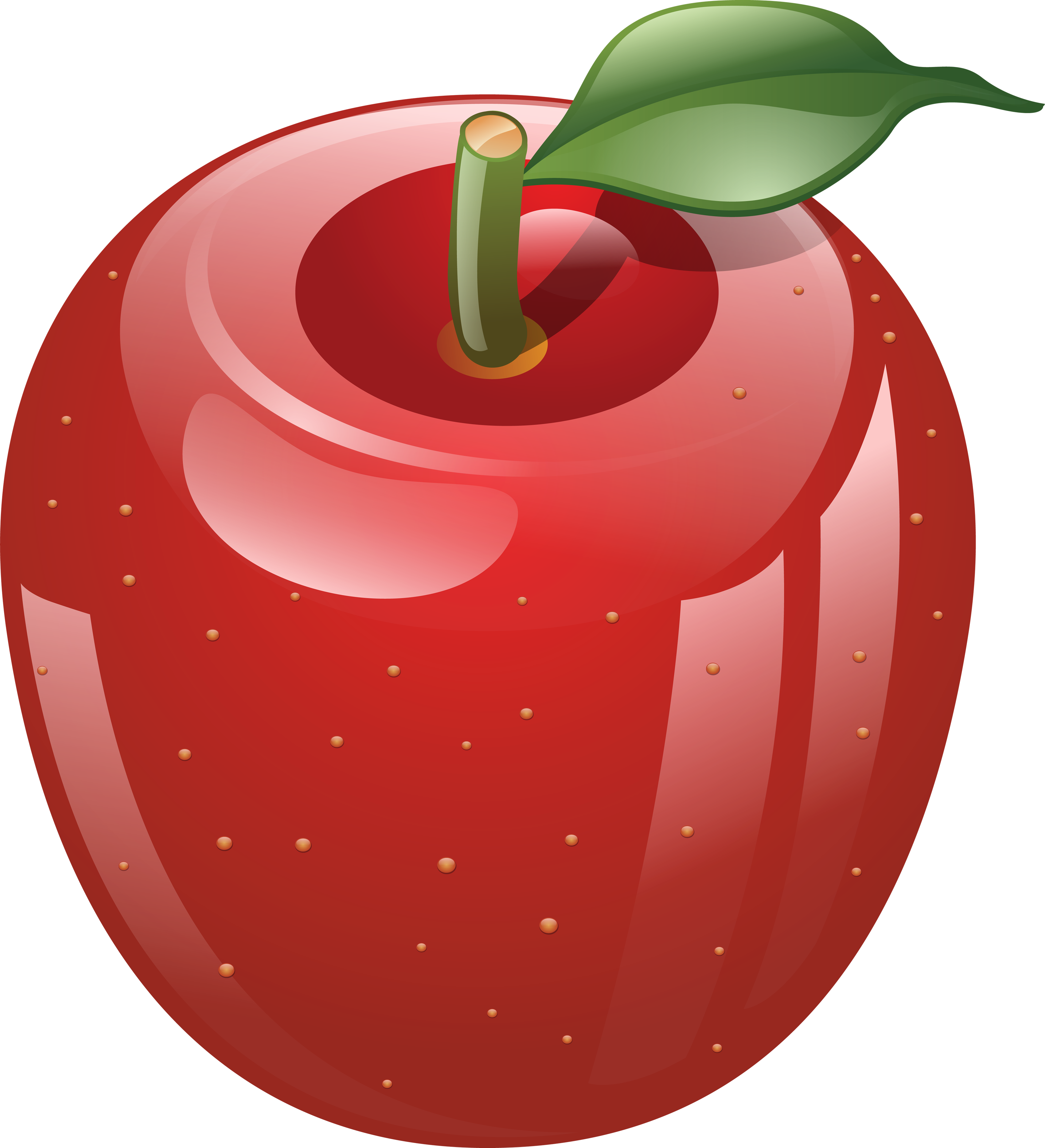 apple clipart free images red