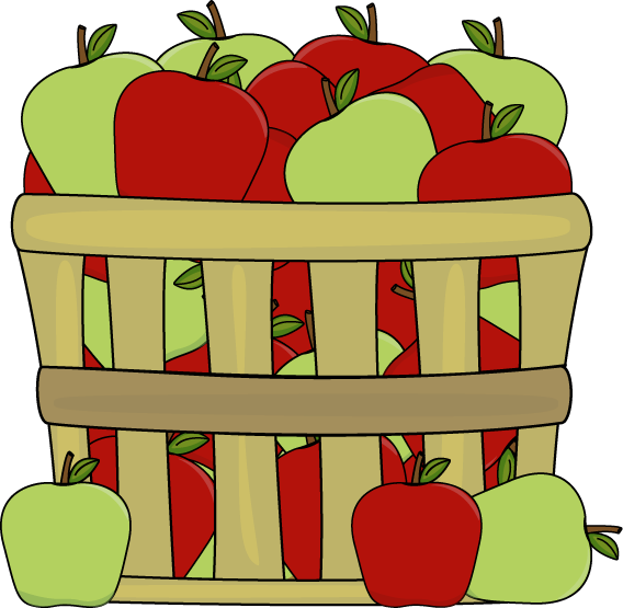 apples clipart in basket