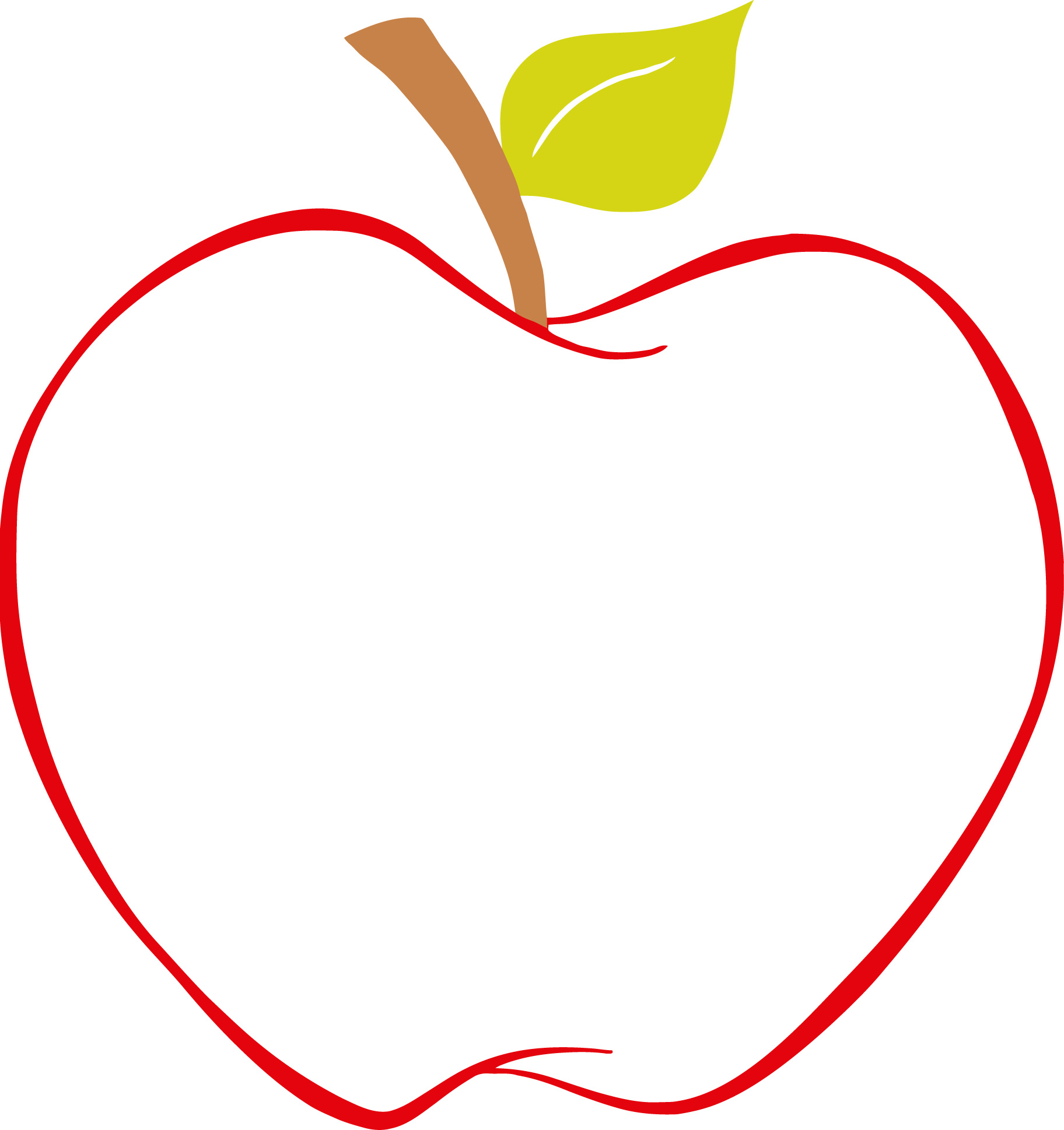 best apple clipart