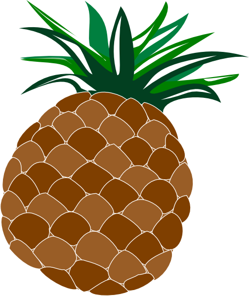 cartoon pineapple clipart fruit clip art