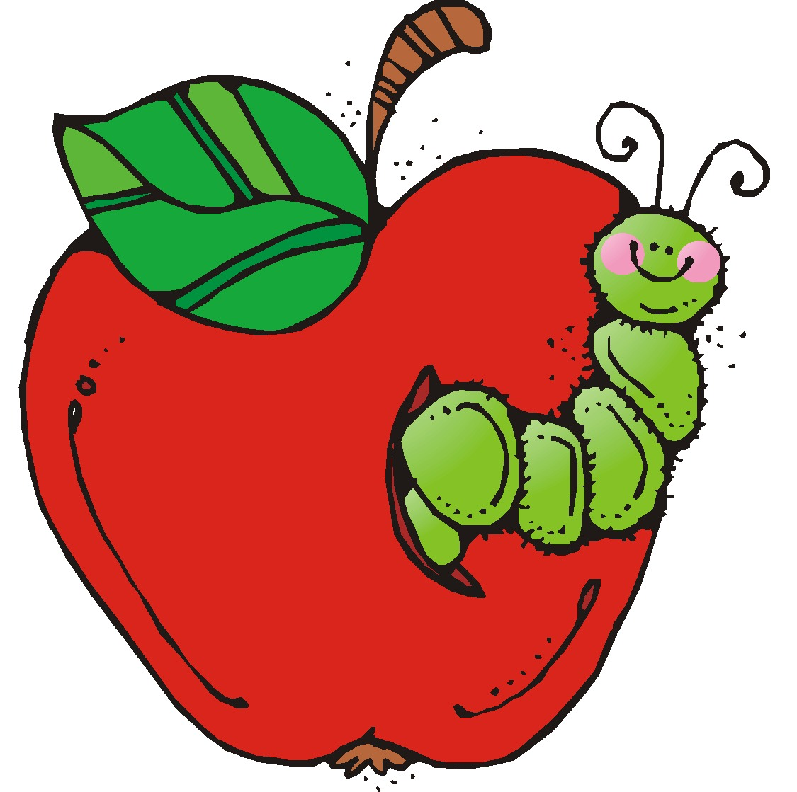 caterpillar apple clipart free images