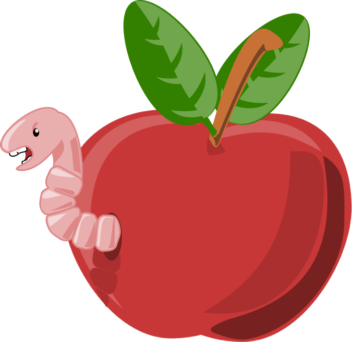 caterpillar apples clipart fruit
