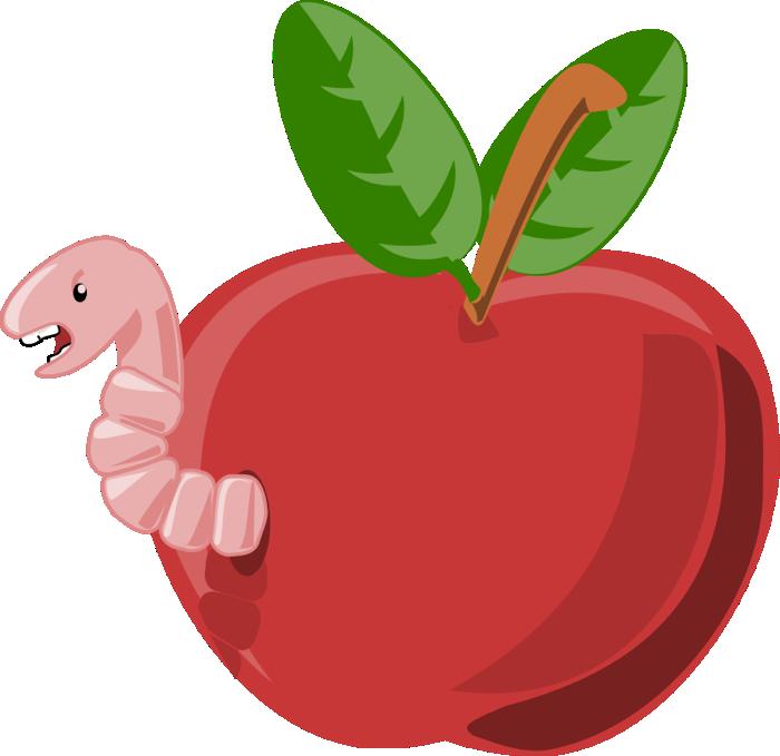 caterpillar apples clipart fruit