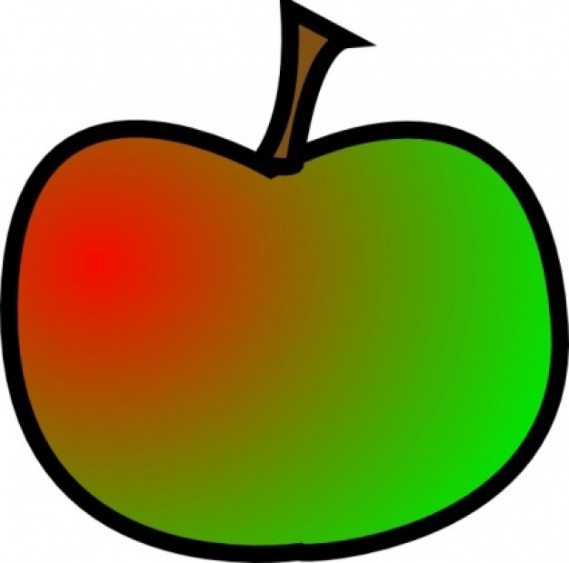 cute apple clip art free clipart red green