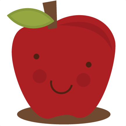 cute apple clipart smile