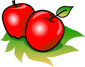 cute green apple clipart free images