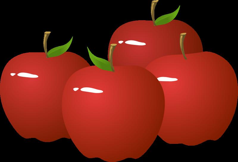 four apple clip art