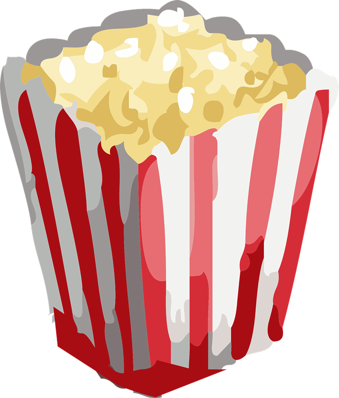 free to use & popcorn clip art 3