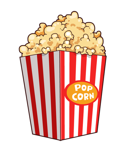 free to use & popcorn clip art