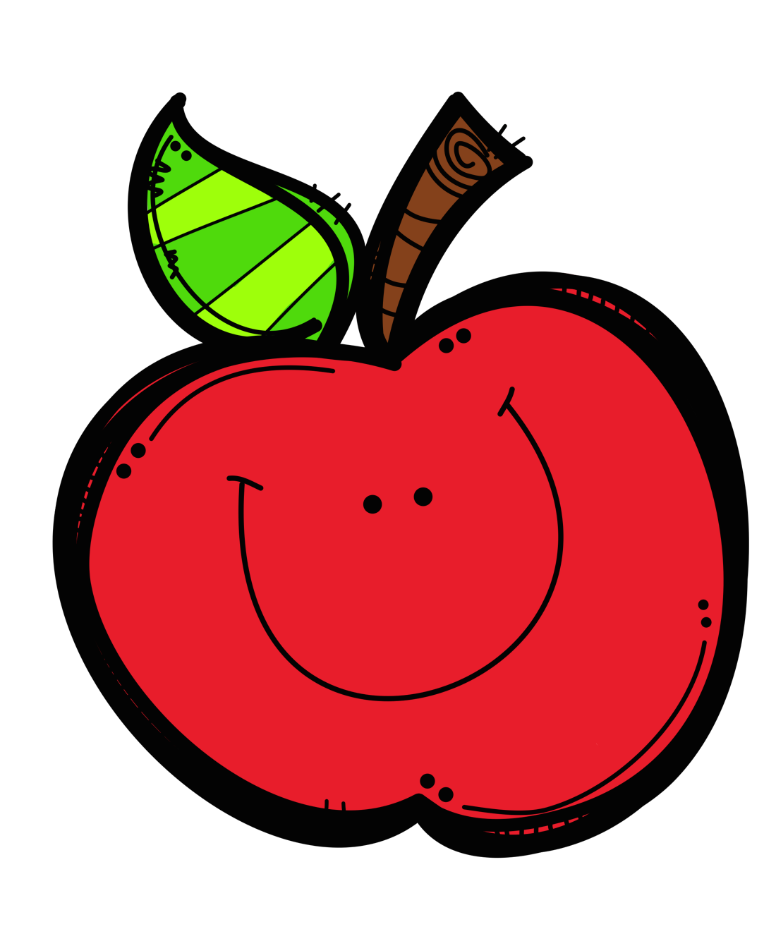happy apple clipart