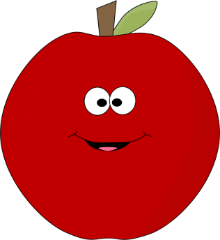 happy fat apple clipart