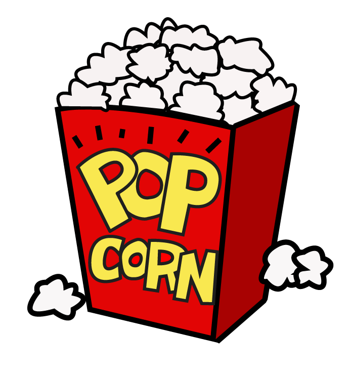 movie and popcorn clipart