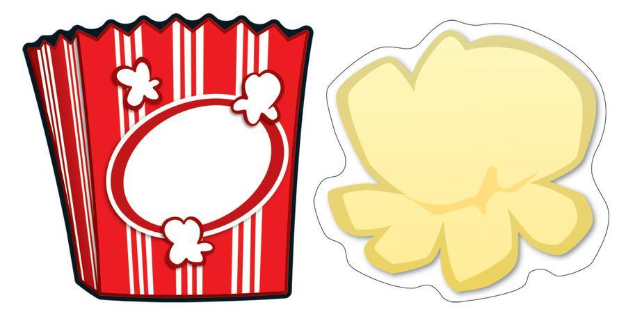 popcorn border clipart