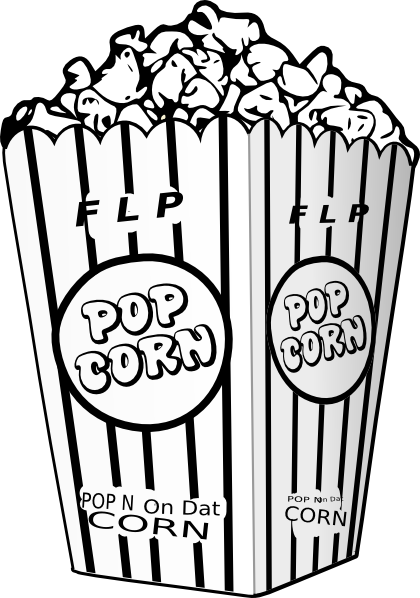 popcorn clip art clipart black white