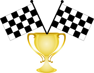race car trophy clipart