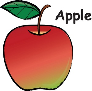 red apple clip art clipart image