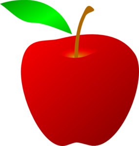 red apple clip art vector clipart