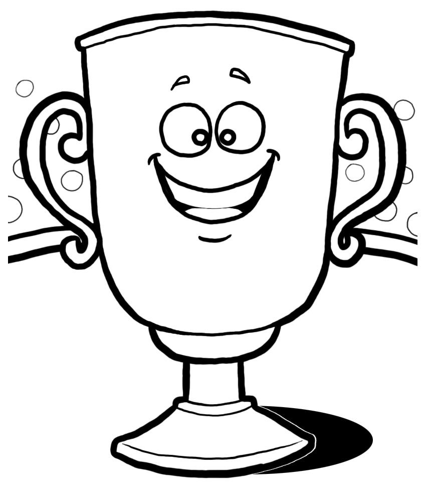 trophy clip art black white images