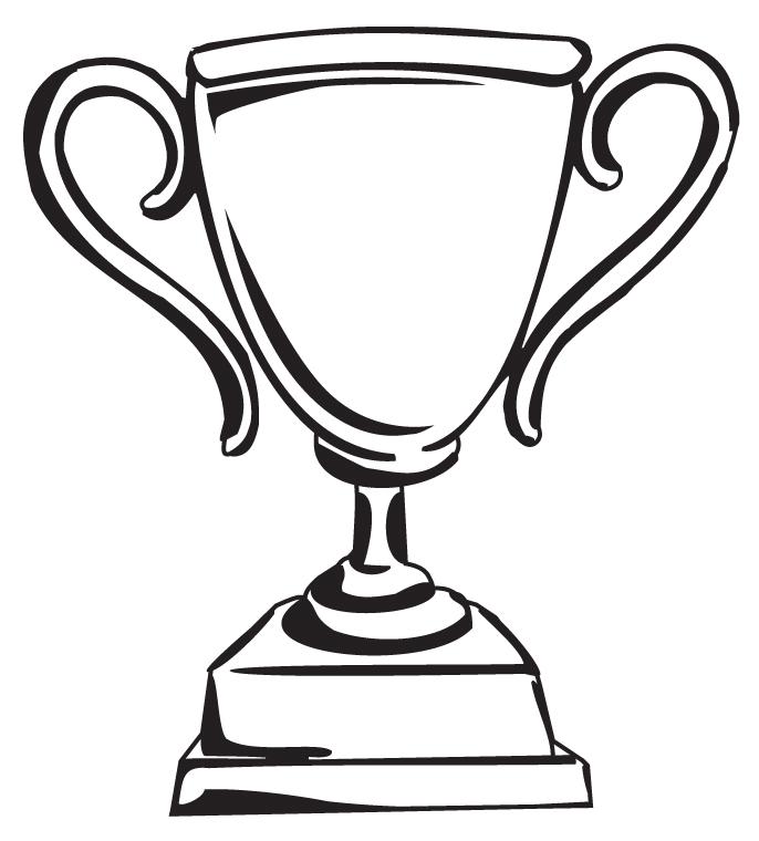 trophy clip art free clipart black white