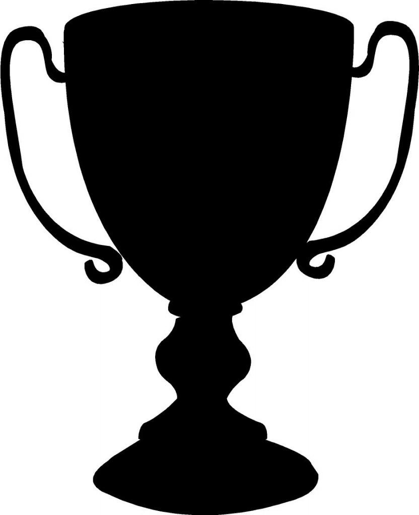 trophy clipart black vector
