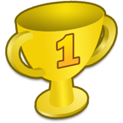 trophy clipart first winner