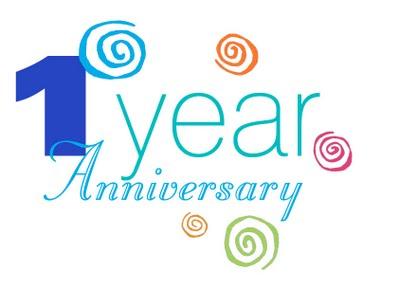 1 year anniversary clipart
