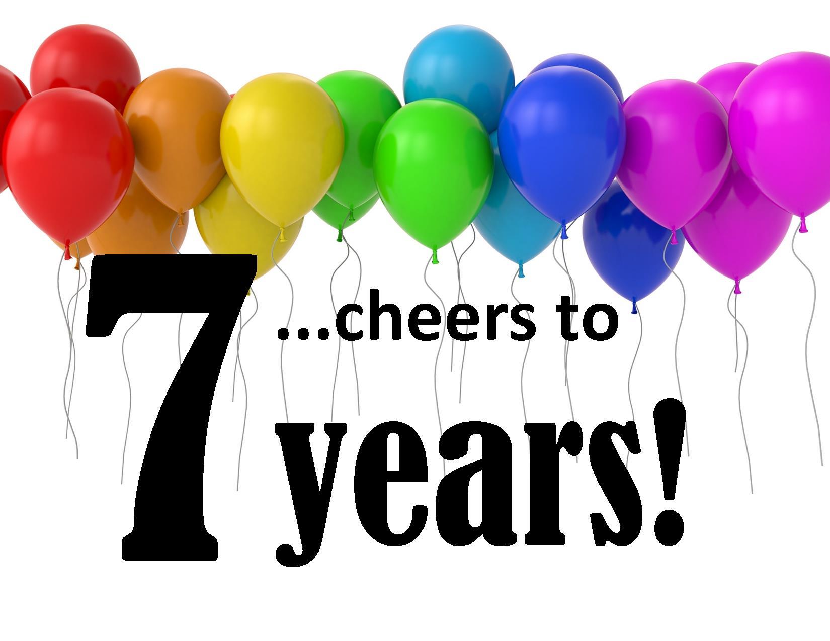 7 year anniversary clipart