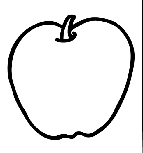 Apple  black and white apple background clipart