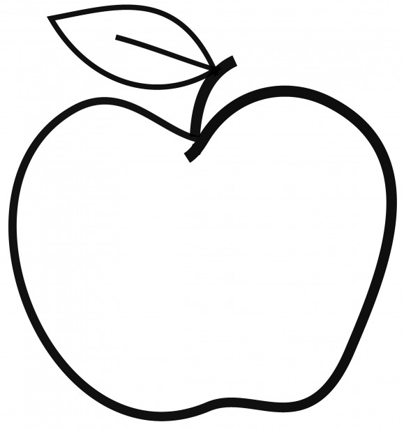 Apple  black and white apple black and white clipart 2