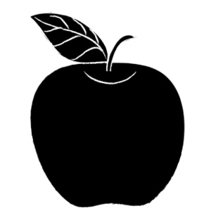 Apple  black and white apple clip art black and white free clipart images