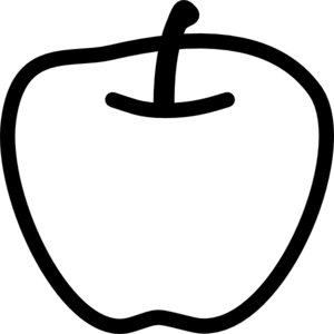Apple Clipart Black And White - 56 cliparts