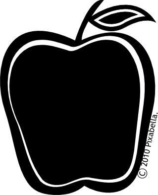 Apple  black and white apple clipart black and white free images 4