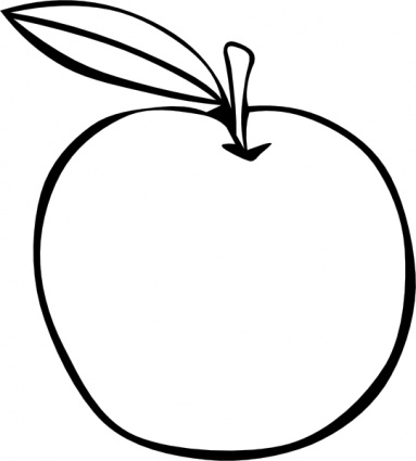 Apple  black and white apple clipart black and white fruit clipart 2