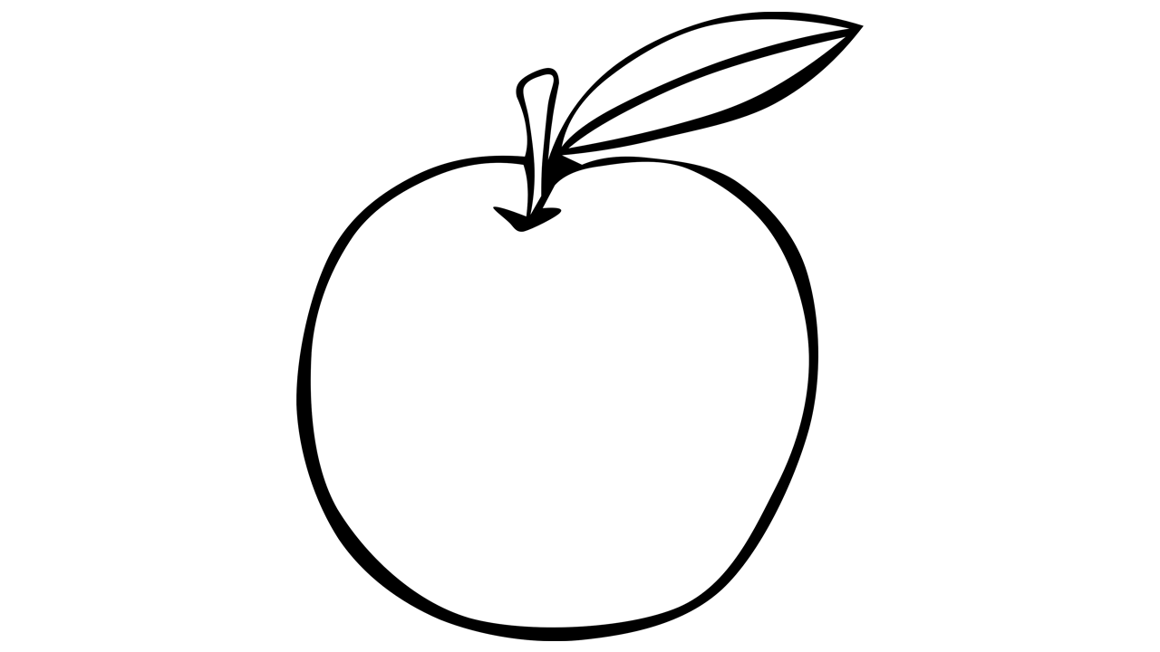Apple  black and white apple fruit free clipart names a with pictures 3