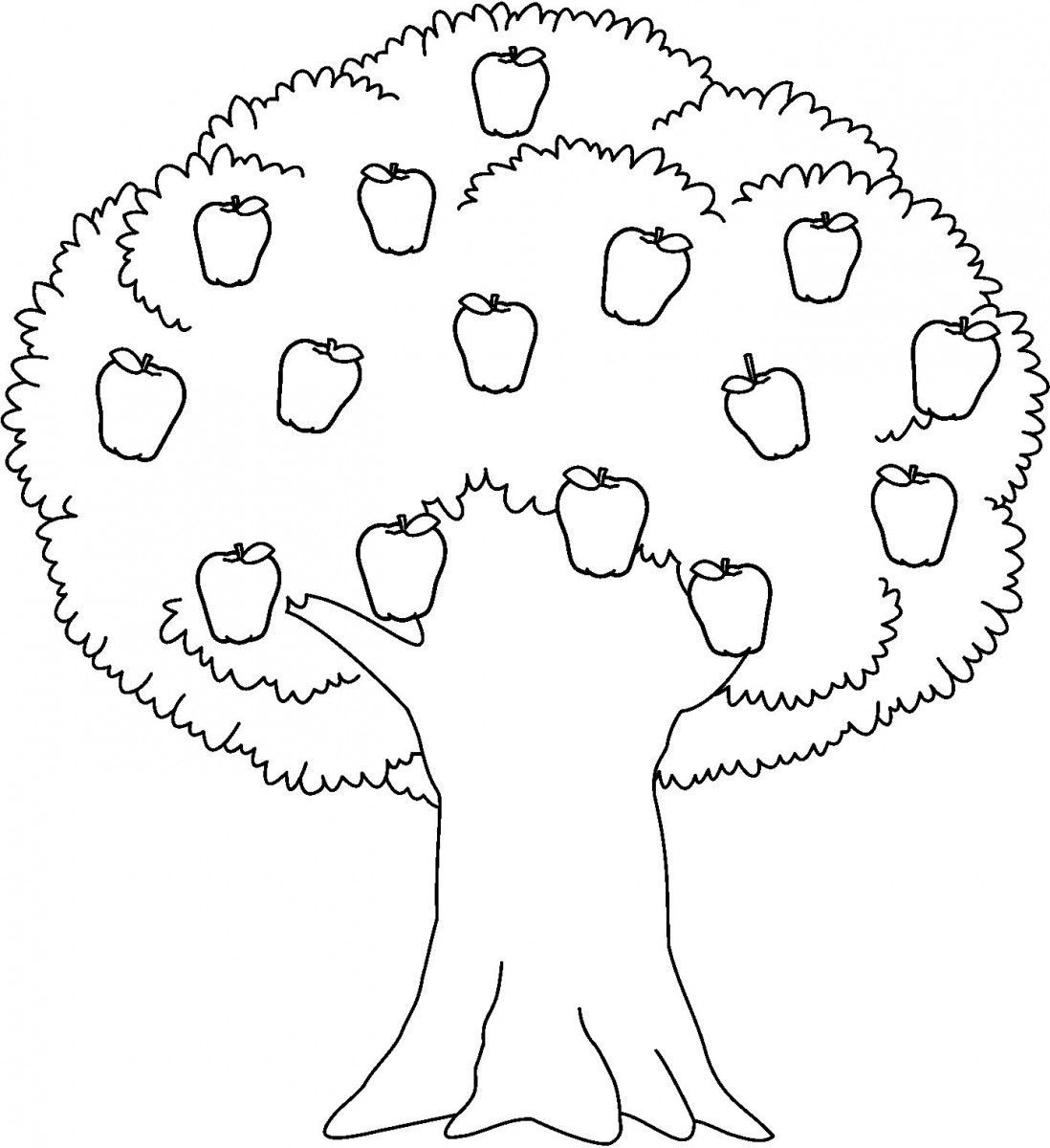 Apple  black and white apple trees clipart black and white